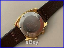 Rare Vintage 1970s Gold Omega Seamaster Memomatic Auto Alarm Watch 166.072