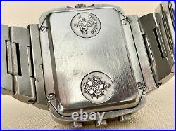 Rare Vintage 1970s Omega Seamaster Chrono-Quartz Watch 396.0839 UNPOLISHED