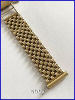 Rare Vintage Gents 9K 9ct Solid Gold Bracelet 16.5mm, Omega, Rolex, Longines