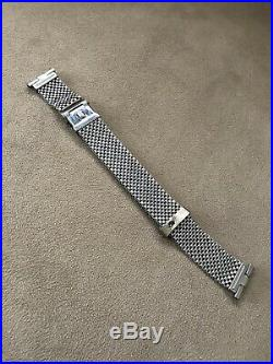 Rare Vintage JB Champion NASA Mesh Horned End Bracelet Omega Speedmaster Nice