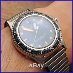 Rare Vintage Man's OMEGA SEAMASTER 120m CALYPSO Quartz Watch Cal. 1337 WORKING