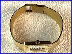 Rare Vintage Omega 14K Yellow Gold Tiger Eye Dress Watch Men's Women's 1970's