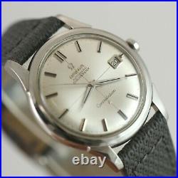 Rare Vintage Omega 168.001 Jumbo 37mm Constellation Chronometer Ss Mens Watch