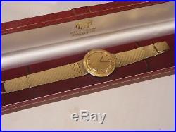Rare Vintage Omega 18k Gold Watch And Bracelet