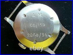 Rare Vintage Omega 56 Raf Pilots Watch Ex Ww2 6b/159 British Military Cal. 30t2