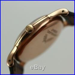 Rare Vintage Omega Centenary, Chronometer 18k Rose Gold Case & Dial Mens Watch