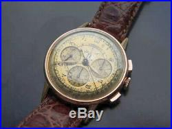 Rare Vintage Omega Chronograph watch caliber 321 certificate 18k solid gold