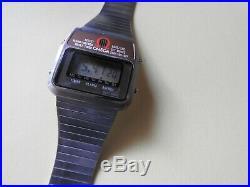 Rare Vintage Omega Memomaster LCD Digital Alarm Quartz Watch 1632 Cal 1978-81
