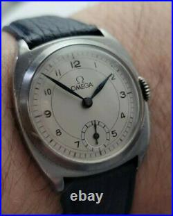Rare Vintage Omega Millitary style Manual winding Men Watch 1934