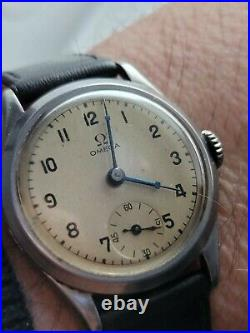 Rare Vintage Omega Millitary style Manual winding Men Watch 1940's