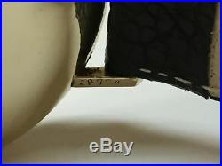 Rare Vintage Omega Sold By Cartier Solid 14k Yellow Gold Watch on Strap