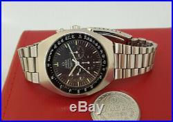 Rare Vintage Omega Speedmaster Black Dial Mark II Chronograph & Box Man's Watch