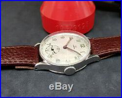Rare Vintage Omega Sub Second Silver Dial Man's Watch