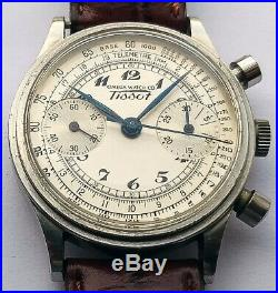 Rare Vintage Omega Tissot watch chronograph from 1939 caliber 33.3 15TL