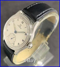 Rare Vintage Omega Watch Military WW2 Ref. 9734543 Cal. 26.5 SOB T2, Jew. 15,1937's