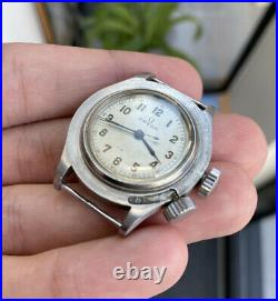 Rare Vintage Omega Weems Military A. M. Pilots Watch Barn Find Project Circa 1940