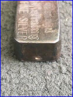 Rare Vintage Pressed/Poured Omega Refining 9.87 Oz (10 oz) 999 Fine Silver Bar