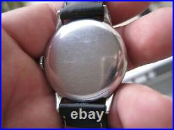 Rare Vintage Stainless Steel Omega 30t2 Mens Wristwatch Keep Time