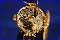 Rare WW1 OMEGA 18kt Gold Wristwatch c. 1916 in Excellent Preserved Condition