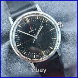 Rare Watch Vintage Omega Seamaster 131.019 Cal 601 black dial