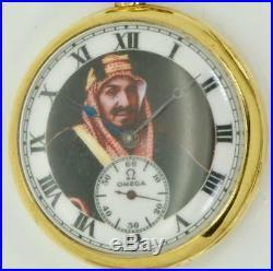 Rare antique 18k gold Omega diplomatic award watch for Saudi Arabia King IbnSaud