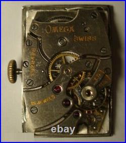 Rare antique vintage The men's wristwatch is OMEGA. Switzerland. 1930s
