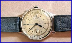 Rare vintage 1940 chronograph oversize 40mm watch as eberhardh omega longines