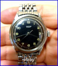 Rare vintage military watch calatrava 6 tacche tissot omega longines zenith heur