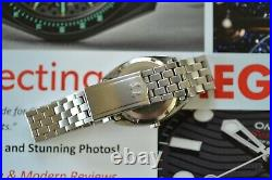 Super RARE Steel Gray Dial Vintage Omega Constellation Watch +Original Bracelet