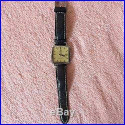 Super Rare Vintage 1970 Omega Seamaster Square Face MSRP $4495