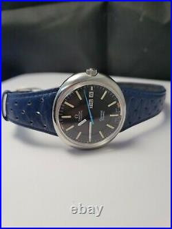 Super Rare Vintage Gents Omega Geneve Dynamic Automatic Watch Blue