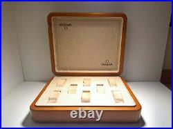 Ultra Rare Vintage Omega Dealer Travel Box Couvette 8 Slot