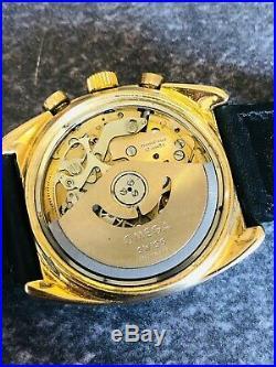 VINTAGE RARE 70s OMEGA SEAMASTER JEDI GOLD 20 MICRONS CHRONO AUTO #176.007& BOXS