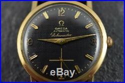 VINTAGE Rare 1960's Norman Morris Omega Globemaster Stunning Black H/C Dial