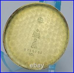 V. RARE OVERSIZE SOLID 14K GOLD VINTAGE OMEGA cal. 26.5 SOB ORIGINAL SECTOR DIAL