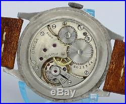 V. Rare Vintage stainless steel Oversize Omega CK859 cal. 26.5 sob sector dial