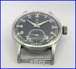 Very Rare 1940's W. W. W. Omega Military Cal30t2 Men's Without Hands Watch Y8665