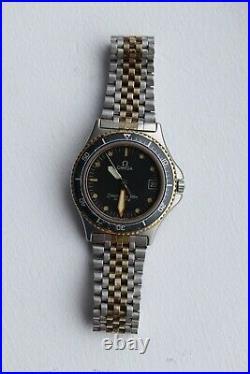 Very Rare 2 tones Vintage Omega Seamaster Calypso 1 Cal. 1337 Quartz 1982