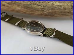 Very Rare Vintage Omega 30 Original Black Dial Manual Wind Man's Watch