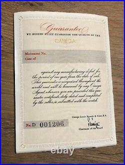 Very Rare Vintage Omega Blank Booklet For Speedmaster Ck2915 1958 Broad Arrow