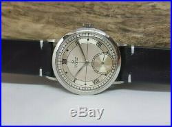 Very Rare Vintage Omega Chronometer Sub Second Cal30t2 Rg Man's Watch