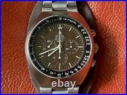 Very Rare Vintage Omega Speedmaster Mark II TROPICAL BROWN DIAL Watch 145.014