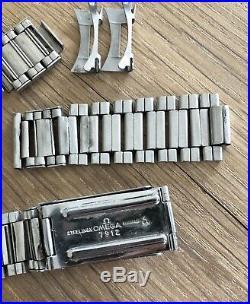 Very Rare Vintage Omega Speedmaster Pre-moon 7912 Bracelet 6 End Pieces 1964