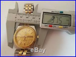 Very Rare omega seamaster 18k gold bezel cal 1425 two tones quarts watch 1985