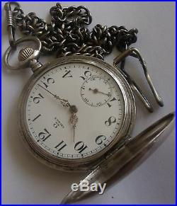 Very Rare-omega-silver O, 900-swiss Pocket Watch Men, S