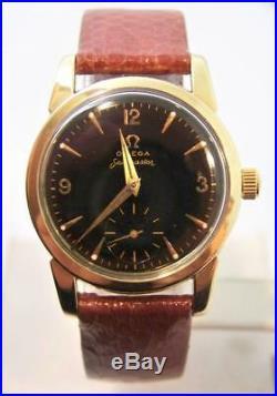 Vintage 14k Gold Cap OMEGA SEAMASTER Winding Watch Cal 410 Ref 2759 c. 1958 RARE