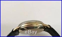 Vintage 1945 Men's OMEGA Automatic Watch RARE black dial 14K Gold Filled 17j