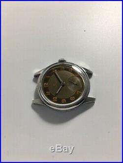 Vintage 1950 Rare Omega Suveran Military 30t2 Two Tone Ref. 2400-5 no chronograph