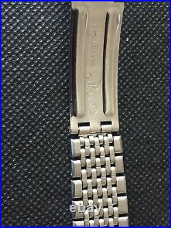 Vintage 1960's rare Omega Constellation / Seamaster 7 row beads of rice steel
