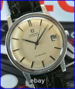 Vintage 1967 Omega Automatic Seamaster Watch Caliber 565 RARE ONYX Dial Runs ++